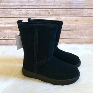 UGG Black Classic Short Waterproof Boots